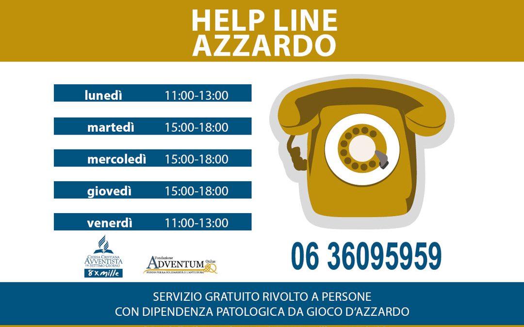 Help Line Azzardo: report attività 2018